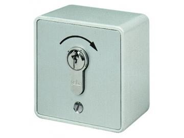 WTS - Miniatur - Schlüsseltaster Alugehäuse, AP wassergeschützt - Schutzart IP 54