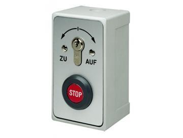 WTS - Standard - Schlüsseltaster mit Stop Drucktaste Rastend, AP ,Wassergeschützt - Schutzart IP 54