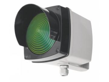 WTS -Einzel-Ampel-Set GRÜN mit Montagebügel und Glühlampe 40WKunststoffgehäuse, wassergeschützt - Schutzart IP 65