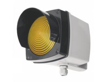 WTS -Einzel-Ampel-Set GELB mit Montagebügel und Glühlampe 40WKunststoffgehäuse, wassergeschützt - Schutzart IP 65
