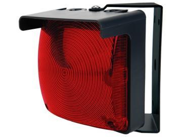 WTS - Einzel-Ampel-Set (QUADRA-LUX) ROT mit LED-Platine und Montagebügel