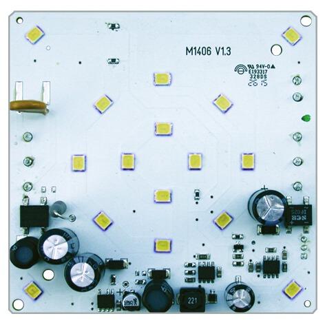 WTS - Einzel-Ampel-Set (QUADRA-LUX) GELB mit LED-Platine und Montagebügel