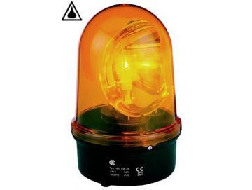 WTS - Drehspiegelleuchte, 230 V AC, Farbe gelb, mit Halogenlampe 35 W