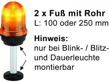 Alu-Rohr, eloxiert, Ø 25 mm, 100 mm lang, nur für Blink-/Blitz- u. Dauerleuchte