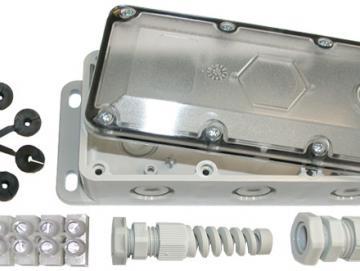 Anschlussdose AD-4C (große Bauform) für Opto-Sensoren und Spiralkabel