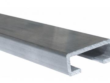 WTS - Alu-Profil / C-Schiene Länge: 2 Meter ( Breite: 25 mm, Höhe 12 mm, Stärke 1,5 mm )