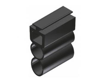 WTS - Gummiprofil mit Lichtkanal Ø 11mm  GP2, 15 x 38mm (BxH)