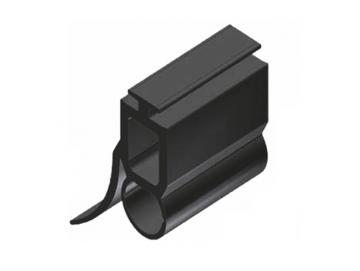 WTS - Gummiprofil mit Lichtkanal Ø 11mm GP3, 14 x 36mm (BxH)