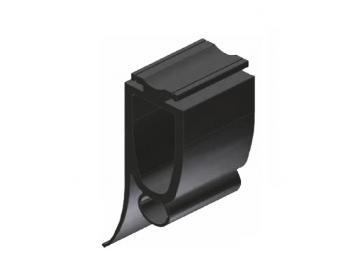WTS - Gummiprofil mit Lichtkanal Ø 11mm GP4, 25 x 75mm (BxH)