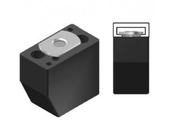 WTS - Modularer Auflaufstopper ASM2, 21 x 35mm (BxH),M8fürRolltore und Rollgittertore