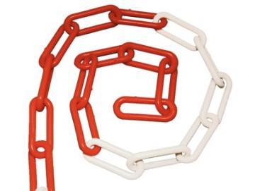 WTS - Kunststoff-Glieder-Kette, rot - weiss (Meterware)für Zugschalter GWU-1Z