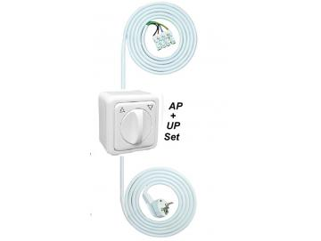 WTS - Einstell -Garnitur - Einstellhilfe Knebelschalter-Garnitur-Set(AP), Tast/Rast-Funktion - Regina