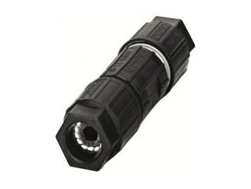 WTS - Phoenix Quickon-Leitungsverbinder für flexible Rundleitungen Schwarz IP6