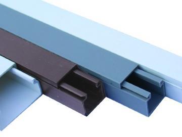 WTS - Kabelkanal 15x15mit Bodenlochung in ultra-weiss - braun - licht-grau erhältlich