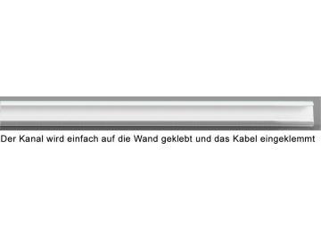 WTS - Mini-Kabelkanal 8x10 mm selbstklebend, mit Klebestreifeng in ultra-weiss