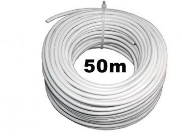 WTS -Kabel - flexibel 5-adrig für trockene Räume 4 x 0,75 mm²,Weiss,50 m Rolle