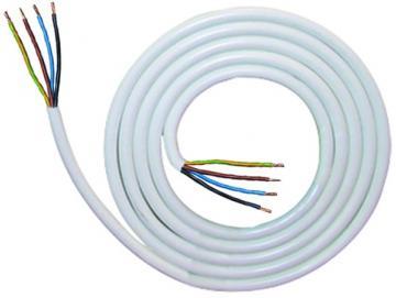 WTS - Motor Kabel 4-adrig, beidseitig mit AE 2 m Weiss