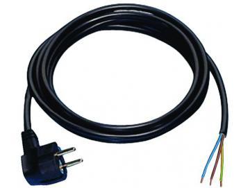 WTS - Gummikabel 3-adrig mit Schukostecker 2 m, 2 m Schwarz