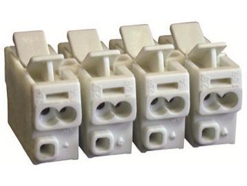 WTS -Verbindungsklemme mit beidseitigen Drückern, 4-polig