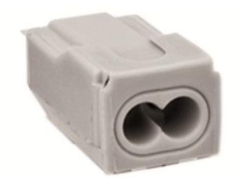 WAGO 273 - Verbindungsdosenklemme / Steckklemme , 2-Leiter, grau