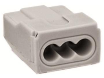 WAGO 273 - Verbindungsdosenklemme / Steckklemme , 3-Leiter, grau