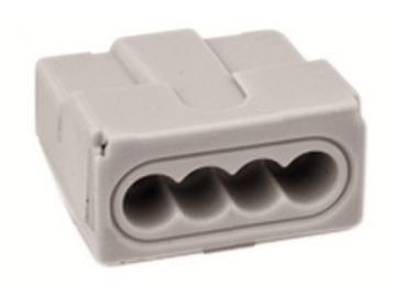 WAGO 273 - Verbindungsdosenklemme / Steckklemme , 4-Leiter, grau