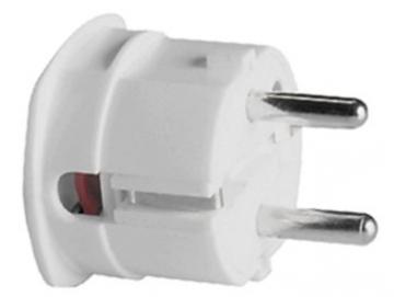 WTS - Stecker mit zentraler Kabeleinführung, Weiss