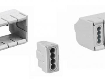 WTS - Steckklemmen-Adapter (ohne Steckklemmen) Grau für den Aufputzkästen (BOXLINE)