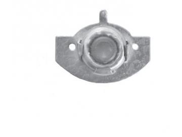 Mini Aufschraub Lagerschale aus Eisen mit Kugellager Ø 28 mm, Krallenlage