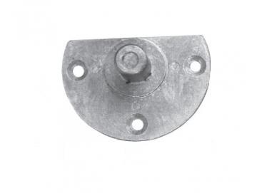 Mini Aufschraublager,Halbmondlagermit festem Zapfen Ø 11,5 mm, Druckguss