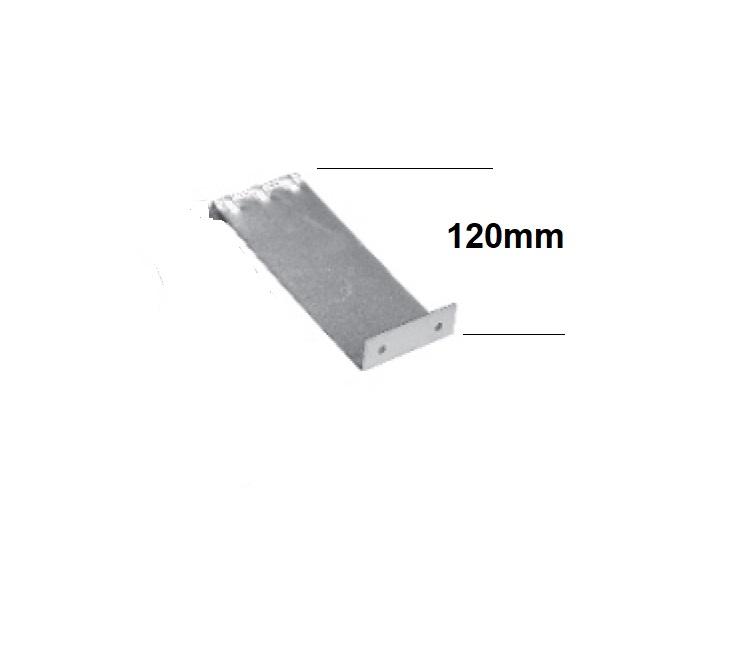 Sperrhaken , zum Befestigen an der Putzleiste des Rollladenkastens erhältlich in Längen 12cm 15cm und 18cm
