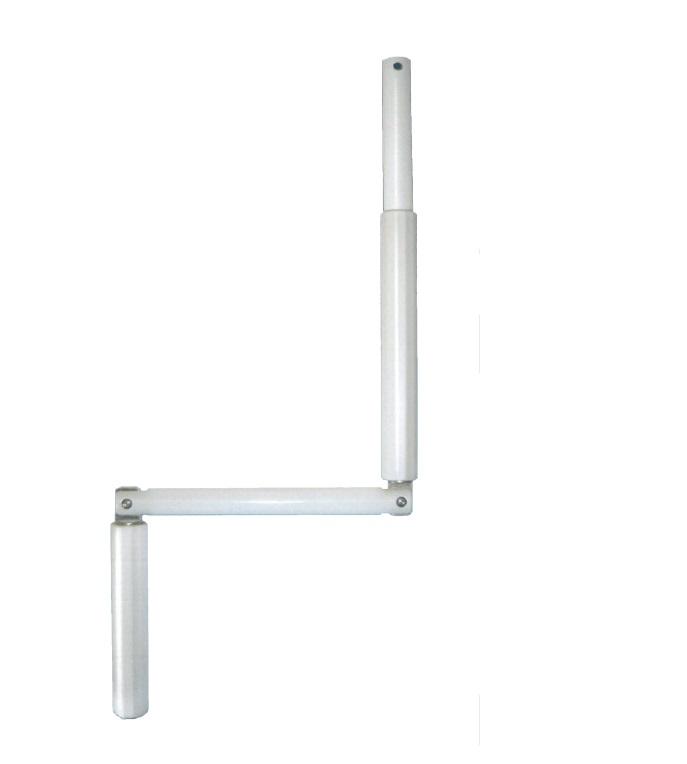 Gelenkkurbel, Länge 800 mm komplett aus Aluminium, erhältlich in weiß, braun und eloxiert E6/EV1