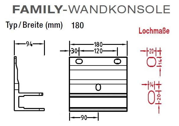 Wandkonsolen für Lewens  Family Markise , für Gelenkarmmarkisen