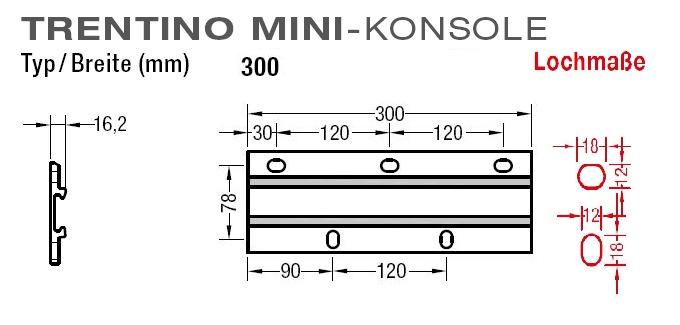 Wandkonsolen für Lewens  Trentino Mini Markise Wandmontage