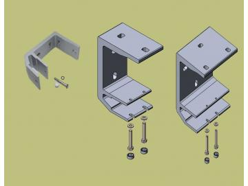Universalkonsolen für Lewens Economy Markise Typ Regendach oder Deckenmontage