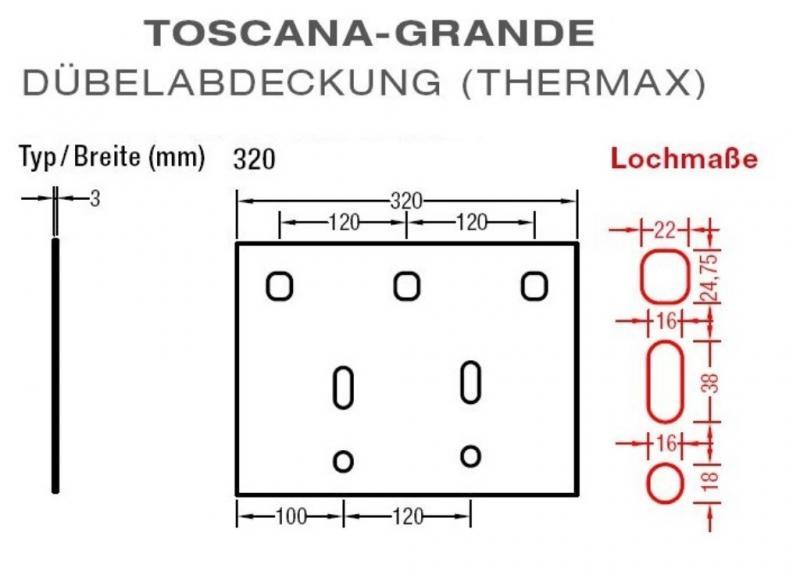 Dübelabdeckung-Thermax für Lewens Toscana Grande Markise