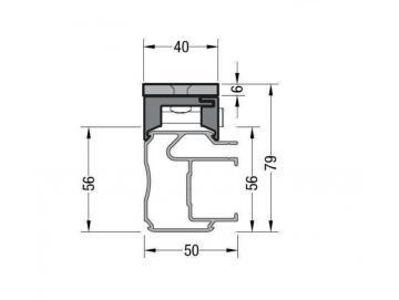 Distanzplatte inkl. Schienenhalter - für Lewens Anconan Unterglasmarkise