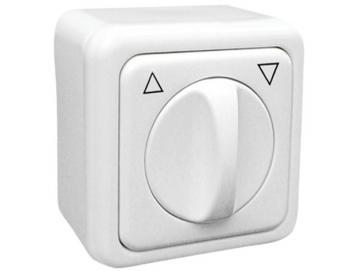 Universal Jalousieschalter für trockene Räume Auswahl als Knebel Taster oder Schalter Rahmen Regina