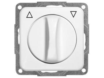 WTS - Kombi Knebel-Schalter für trockene Räume Auswahl als Taster oder Schalter ohne RahmenSerie Regina.