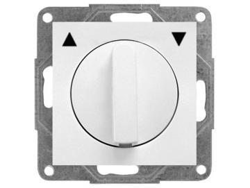 WTS - Kombi Knebel-Schalter für trockene Räume Auswahl als Taster oder Schalter ohne RahmenSerie Lenora