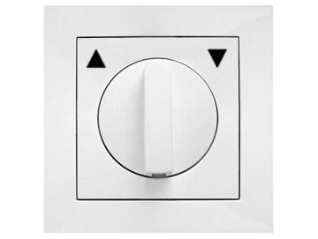 WTS - Kombi Knebel-Schalter für trockene Räume Auswahl als Taster oder Schalter mit Rahmen Lenora