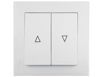 WTS - Doppel-Wipp-Schalter mit Rast / Taster ohne Rast UP mit Rahmen Lenora