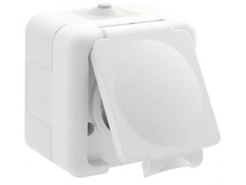 WTS - Schuko-Steckdose mit Klappdeckel APwassergeschützt - IP 44