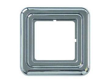 WTS - Abdeckrahmen (galvanisiert) hochglanz-silberfür Zeitschaltuhren DUOMATIC 50Kombi-Optik Regina
