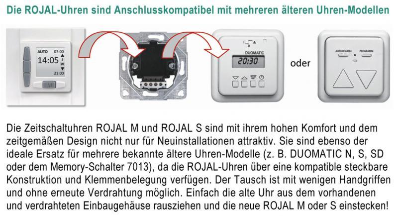 WTS - Zeitschaltuhr ROJAL S 6085/50UP Einbau Ultraweiss oder Cremweiss erhältlich