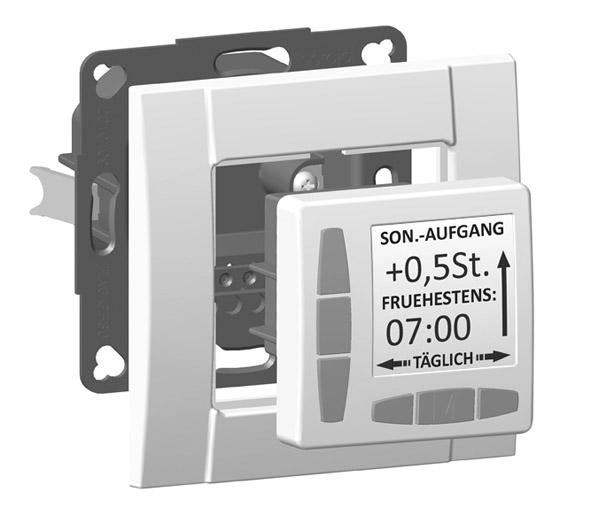 WTS -Aufputz-Rahmen 1-fach für alle ROJAL Zeitschaltuhren in Ultraweiss und Cremweiss erhältlich