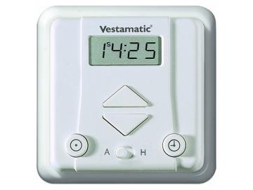 Vestamatic - Zeitschaltuhr ROLLTEC PLUS G/S inklusive Rahmen JUNG CD 500alpinweiss