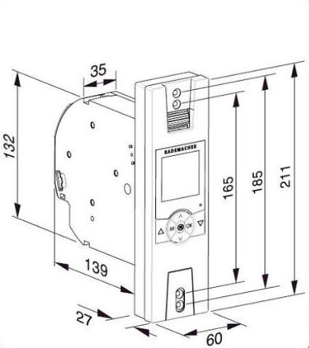 Rademacher - RolloTron Standart 1300-UW Ultraweiss Gurtwickler zur UP-Montage