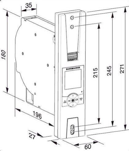 Rademacher - RolloTron Comfort Plus 1705-UW Ultraweiss Gurtwickler zur UP-Montage
