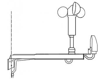 Vestamatic - Montagebügel Aluminium Kombibügel für Wind- und Sonnensensor